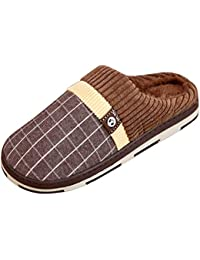 Sasairy Uomo Pantofole in Cotone Ultra-morbido Caldo Traspirante Ciabatte Uomo  Antiscivolo per Autunno Inverno. 3fbb45303d7