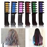 Cisixin 6 Farben Haarkreide, Hair Chalk, Haarkreide-Set, Haar Farben Creme mit Kämme Haare Haartönungen