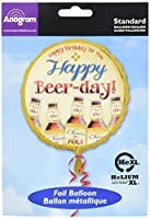 "Happy Beer-Day Standard Round Foil Balloon Measure aprox 18"" when is inflated. SUITABLE FOR HELIUM! This item will be dispatched flat packed. Ideal for beerfest beer festival Oktoberfest celebrations."