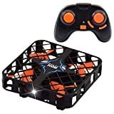 ONEVER Mini RC Hubschrauber Drohne, 2,4 GHz 4-Achsen-Gyro Headless-Modus LED-Leuchten mit HD 720P Kamera High-Speed-Fernbedienung Quadcopter RTF Anfänger Drone Training