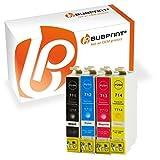 Bubprint 4 Druckerpatronen kompatibel für Epson T0711 T0712 T0713 T0714 für Stylus SX105 SX210 SX218 SX400 DX4000 DX4400 DX6000 DX6050 DX8450 BX300F