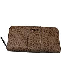 Guess Women'S Zip Around Wallet Ware Mocha