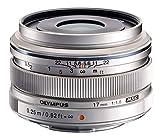Olympus M.Zuiko Digital 17mm F1.8 Objektiv (lichtstarke Festbrennweite, geeignet für alle MFT-Kameras, Olympus OM-D und PEN Modelle, Panasonic G-Serie) silber