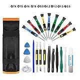 Repair Tool Kit 25pcs Precision Screwdriver Magnetic Set for Phones Iphone Computers PC
