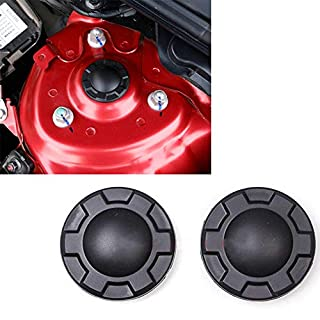 BAAQII 2pcs Shock Absorber Trim Protection Cover Waterproof Dustproof Cap for Mazda3 Mazda6 CX-5 CX-3 CX-9