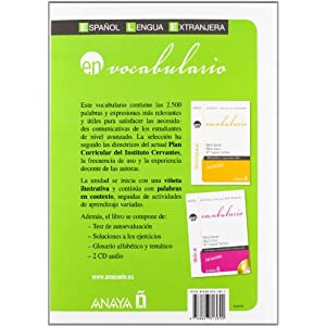 Vocabulario. Nivel avanzado B2 (Anaya E.L.E. En - Vocabulario - Nivel Avanzado (