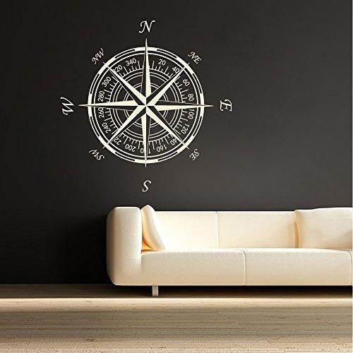 Wand Aufkleber Decor Nautik Kompass Rose Wandaufkleber Nautisches D ¨ ¦ cor Wohnzimmer Wandtattoos Vinyl Aufkleber Aufkleber (76,2cm H X30