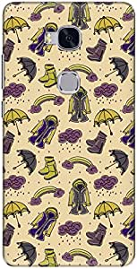 The Racoon Grip printed designer hard back mobile phone case cover for Huawei Honor 5x. (Dull Rainy)