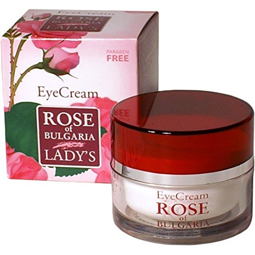 Biofresh Rose of Bulgaria Augencreme Mit Rosenwasser, Makadamia Öl, Vitamin E und Jojobaöl / Eye cream with pure Rose water 25ml