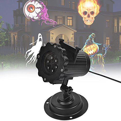 Signstek LED IP44 Weihnachtsbeleuchtung, Halloween Projektionslampe Projektor Dekoration Lampe, Projektionslampe Halloween mit 16 austauschbaren Linse für Weihnachten, Geburtstag, Hochzeit, Halloween, Zimmer, Außenwand (Halloween Projektor)