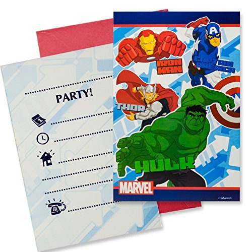 Marvel Procos S.A Avengers Party Einladungen (Pack von 6)