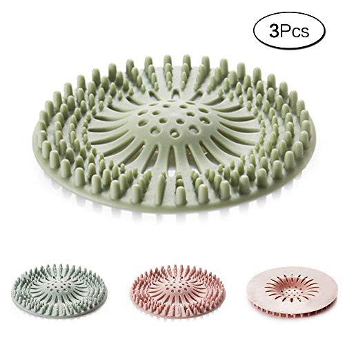 aoory 3 Stück Duschablauf Abdeckungen Rohr Ablauf Haarfänger Stopper Für Bad Gummi Waschbecken Haarsieb Silikon Filter (Gummi-rohr-abdeckung)