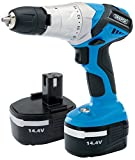 Draper 83574 Cordless Hammer Drill with Two Batteries, 14.4 V, Multi-Colour