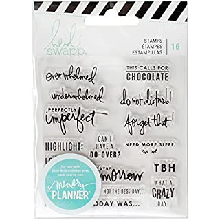 American Crafts Heidi Swapp Memory Planner Clear Stamps, Multi-Colour, 12.7 x 9.9 x 0.25 cm