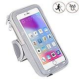 Handy Schutzhülle Tasche | für Doogee Y6 Max/ 3D | Sport armband zum Laufen, Joggen, Radfahren | SPO-2 Grau