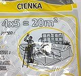 [2 Stuck] Abdeckfolie Cienka 4x5 m 12 my Möbel-Abdeckplane Malerfolie Malerplane, Schutzfolie, Allzweckfolie, Leichtplane