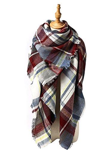 zando-plaid-coperta-spessa-inverno-sciarpa-tartan-grosso-wrap-oversize-scialle-del-capo-fucsia