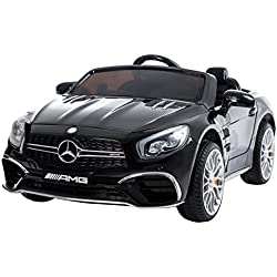 RunRunToys - Coche Mercedes-Benz GLS, 12V, con radio control, color negro
