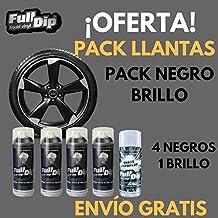 Vinilo Liquido Full Dip - Pack para llantas - Negro BRILLO - Llantas 17