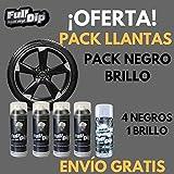 Vinilo Liquido Full Dip - Pack para llantas - Negro BRILLO - Llantas 17'' o más