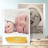 Fotoalbum Baby, Günther 28 Seiten, Hardcover 234x296 mm personalisierbar, Gelb