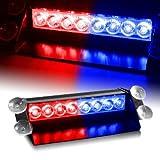 Monkeybrother Rot & blau Auto Alarm-LED Emergency Vehicle Deck Strobe Warnleuchten alarmleuchte alarmlampe alarmlichte Fahrzeug Blinkt Beleuchtung autoalarmanlage autolampen für Dach / Dash / Windschutzscheibe