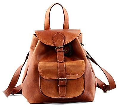 PAUL MARIUS petit sac à dos en cuir couleur Naturel style vintage LE BAROUDEUR, Marron, S