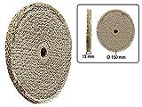 Polierscheibe gesteppt aus Sisal 150 mm
