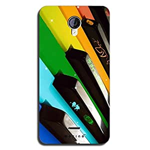 Mozine Colorful Piano printed mobile back cover for Micromax Unite 2 A106