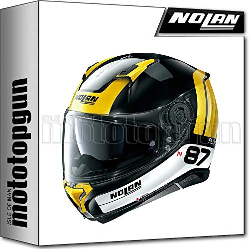 NOLAN CASCO MOTO INTEGRALE N87 PLUS DISTINCTIVE GLOSSY NERO 027 TG. S