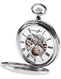 Hermann jaeckle Heidelberg scheletro orologio da tasca a carica manuale incl. Catena & Box