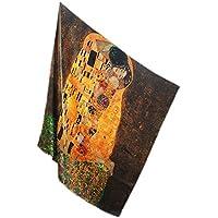 Prettystern - 110 cm oversize pesante crepe di seta di raso (spessore 16 mm) panno di seta handroulier Nouveau - Gustav Klimt