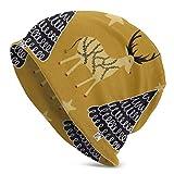 Photo de Zhgrong Bonnets pour Hommes Femmes - Chaud, Motif Folklorique scandinave Folk Art Slouchy Beanie Cap Tough Headwear , Stretchy Soft Beanie Cap par Zhgrong