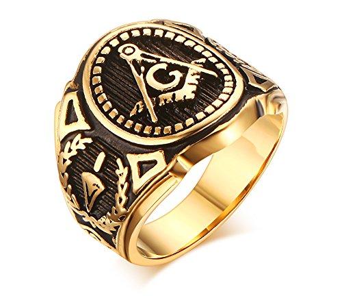 HUANIAN  -  Edelstahl Edelstahl Rundschliff Zirkonia (10k Birthstone Ring)