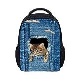 Kanpola 3D Animal Print Travel Backpack Student Children Mochila Shoulder Bags (StyleA)