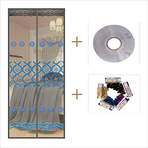 YSA Heavy Duty Magnetic Screen Tür, Haspe selbstdichtende Anti-Insekten-Bug Off Magnetic Mesh Bug Screen Tür, Windproof-d 85x200cm (33x79inch) -