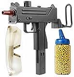 Nick and Ben Softair Maschinen 6 mm Pistole ca. 26 cm Softair-Gewehr Set inkl. 500 Kugeln + Schutzbrille Federdruck ABS