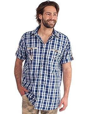 Orbis Trachtenhemd 921002-2917 Halbarm blau