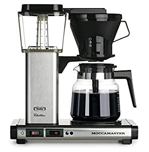 Moccamaster KB 741 10-Cup Coffee Brewer with Glass Carafe, Brushed Silver by Technivorm Moccamaster