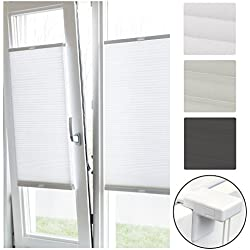 Sol Royal Plissee Klemmfix SolDecor P26 60x150 cm Weiß - Plisseerollo Ohne Bohren - Rollo Fenster & Türen