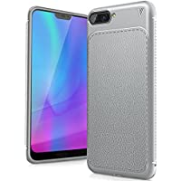 FindaGift Huawei Honor 10 Funda, TPU Suave Ultra Delgado [Inastillable][A prueba de choques][Protección completa] Bumper A prueba de huellas Back Cover con base antideslizante para Honor 10 (Gris)