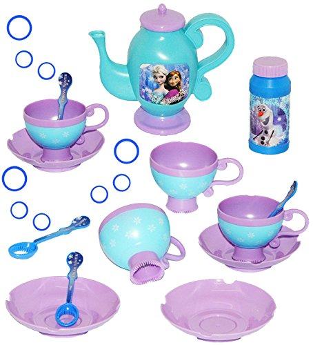 14 TLG. Set: Seifenblasen Spielzeug -  Disney Frozen / die Eiskönigin  - Badewanne - Teeservice + Seifenblasenstäbe + Nachfüllflasche - für Kinder Mädchen /.. ()