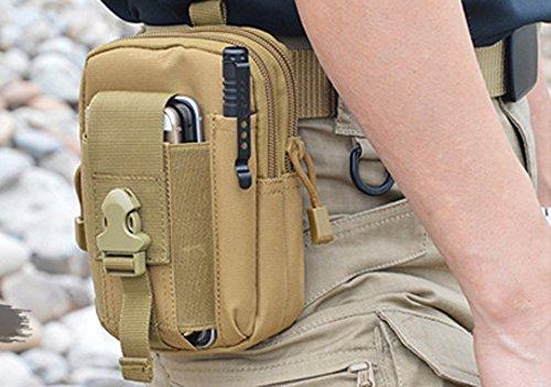 FREEMASTER Multi Kapazität Maxi-Tactical Molle im Freiensport HüfttascheGürtel Taille Beutels (Khaki) (Dakine-leder-gürtel)