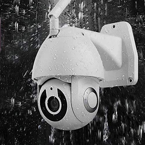 PTZ Camera wifi 1080P, IP Camera 355° Pan/90° Tilt, Sensore di Movimento, Interfono Vocale Bidirezionale, 30M Visione Notturna, IP66 Impermeabile, Messaggio Push