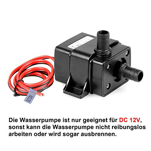 TSSS Brushless Mini Wasserpumpe 240L/H 4.8W Submersible Pumpe Amphibisch Aquarium Gartenteich Fall...