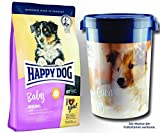 2 x 10 kg + Futtertonne 43 Liter Happy Dog Supreme Baby Original
