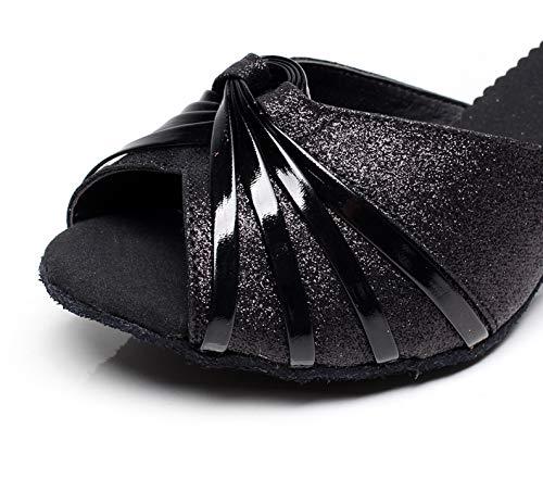 Minitoo ,  Damen Tanzschuhe , Schwarz – schwarz – Größe: 36.5 - 5