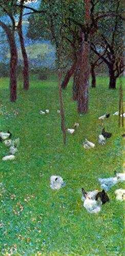 Tour Großes Poster (Das Museum Outlet–Nach dem Regen (Garten mit Hühnern in St. Agatha) Klimt–A3Poster)