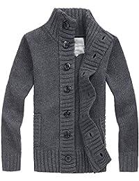 edc749f8c09f54 Uomo Elegante Cardigan da Maglione Maglia Spessa Maglioni Giacca Pullover  Giacca a Maglia Invernale