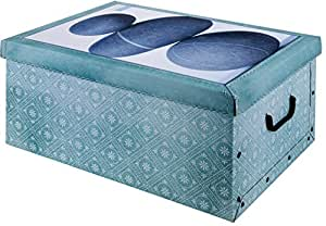 aufbewahrungsbox box ordnungsbox pappe karton deko box mit deckel und hand griff stapelbox. Black Bedroom Furniture Sets. Home Design Ideas